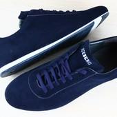 Туфли мужские синие замшевые