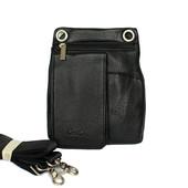 Мужская компактная сумка черная (033)