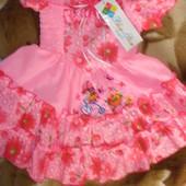 Новое нарядное платье 1-2г!