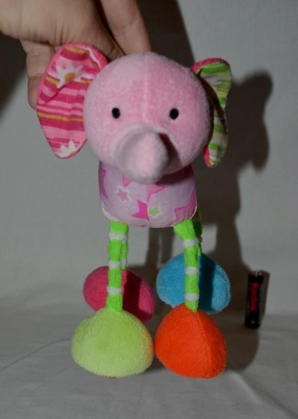 Фирменная подвеска погремушка слоник для вашей малышки фото №1