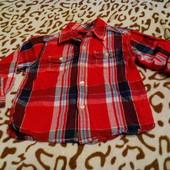 Фирменная яркая рубашечка на мальчика 2 года производство США !!!