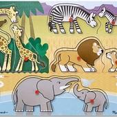 Вкладыши «Угадай африканское животное», Melissa&doug Артикул: MD11873