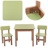 Деревянный столик со стульчиками F091