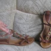 босоножки коричневые Кларкс, 25,5см по стельке, 39 размер