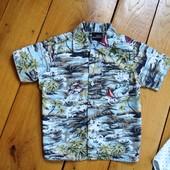 Пляжная рубашка с коротким рукавом от Next на 2-3 года 98 рост