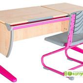 мебель для школьника Дэми - парта + стул, клен танзай розовый (Д-20031235)