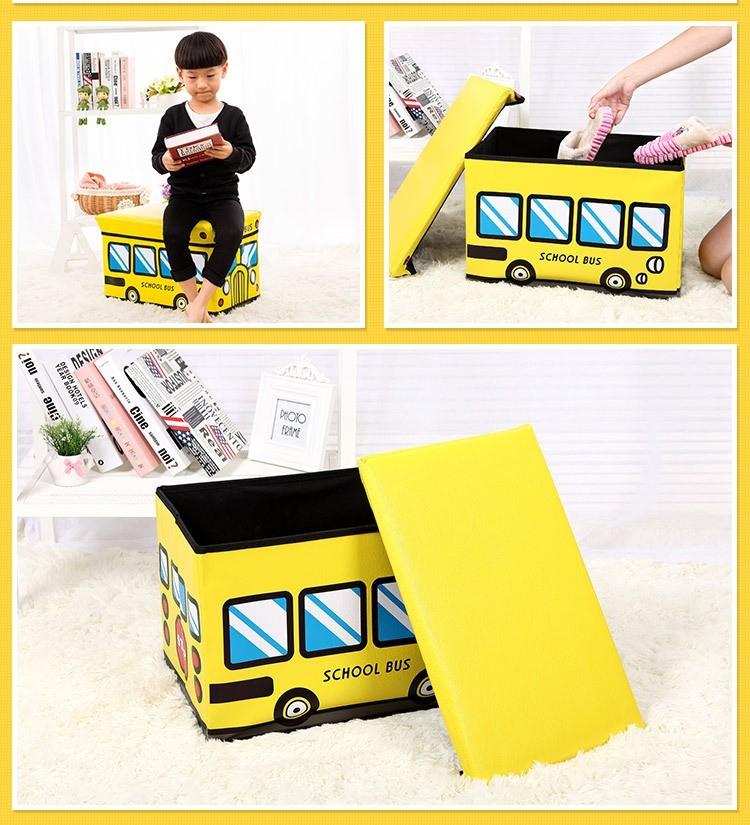 Пуф короб складной, ящик для игрушек, разные цвета фото №1