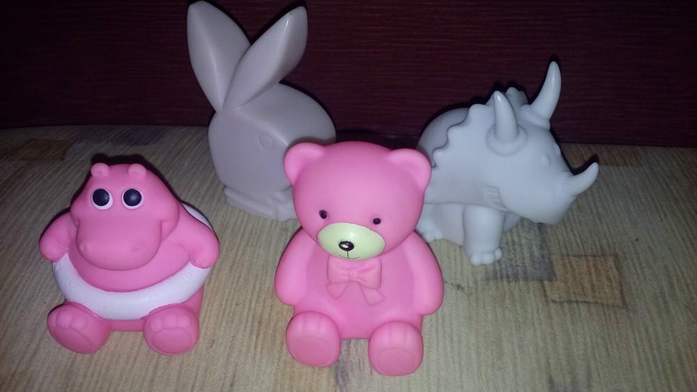 Резиновые игрушки ночник фото №1