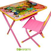 Детский складной набор мебели Дэми Союзмультфильм Чебурашка, розовый (Д-20031213)