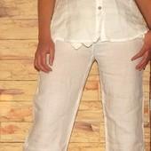 женские брюки maella. 100% лен