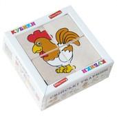 Кубики деревянные «Сложи рисунок: Домашние животные», Komarovtoys Т 609