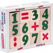 Кубики деревянные «Цифры и знаки», Komarovtoys Т 604