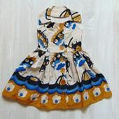 Шикарное яркое платье для изысканной леди. Next. Размер 3 года. Состояние: новой вещи