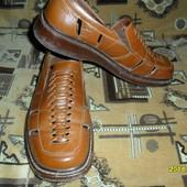 Кожаные мужские летние туфли-мокасины 41р.