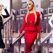 Костюм женский на подкладке  Луи Витон. Красный - символ 2017 года!