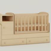 Детская кроватка трансформер Oris Marica сосна лореда светлый венге