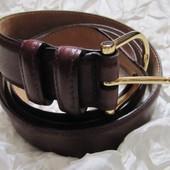Ремень пояс кожаный коричневый Monn Италия