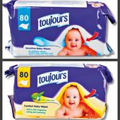 Детские влажные салфетки Toujours 80шт