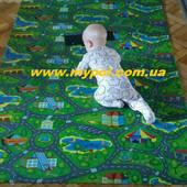 Коврик, каремат детский развивающий Дороги-макси 2*1,1 м и 1,5*1,1 м толщ 8 мм