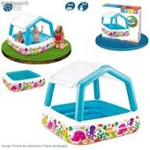 Детский надувной бассейн Intex «Аквариум» со съёмным навесом 57470