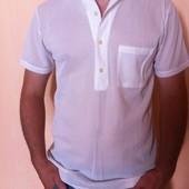 Очень легкая футболка с воротничком (М) Новая!