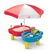 Little Tikes стол - песочница с зонтом