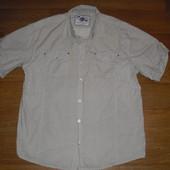 Мужская рубашка с коротким рукавом хлопок размер L