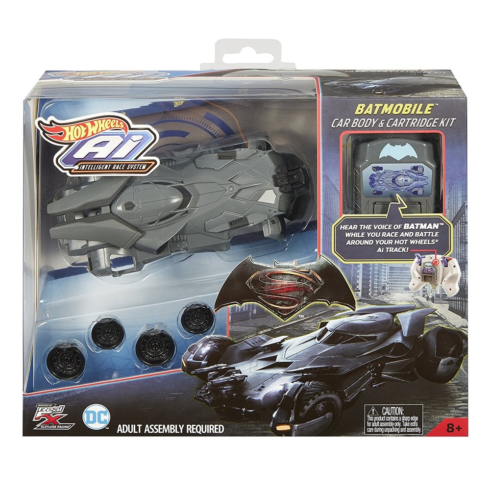 Hot wheels ai racing batmobile car body & cartridge kit фото №1