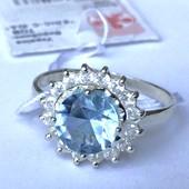 Новое серебряное кольцо с куб.цирконом Серебро 925 пробы