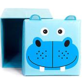 Детский пуф 3 в 1 (корзина, ящик для игрушек)