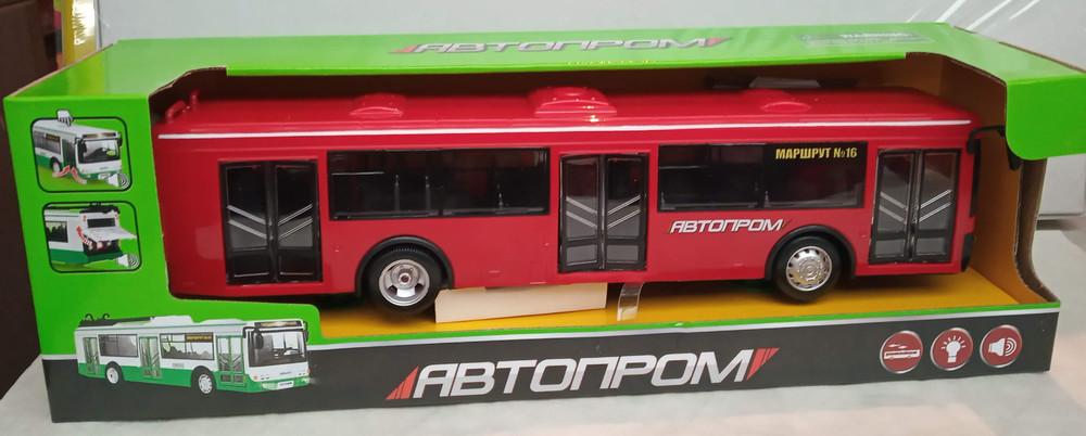 Автобус инерция 9690 автопром батар., свет, звук. фото №1
