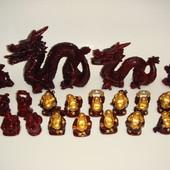22 шт. одним лотом.Китайские статуэтки (знак зодиака.драконы.боги)