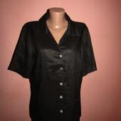 рубашка,блуза р-р 14,сост новой,лён