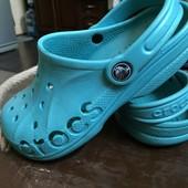бирюзовые Crocs, оригинал  33-34 (стелька 20,8 см)