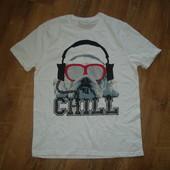 Мужская футболка с бульдогом Chill , размер S, 100% котон, Индия