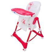 Бемби RT 002 стульчик для кормления высокий Bambi на колесиках