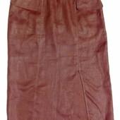 Camaieu. Франция. Стильная и шикарная юбка шоколадного цвета из рами.