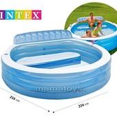 Бассейн надувной Интекс 57190 с сиденьем 224х216х76 см