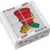 Кубики «Сложи рисунок: Игрушки», Komarovtoys Артикул: Т 608