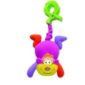 Вибрирующая игрушка-подвеска с зажимом Biba Toys Коровка и мавпочка арт.122br и 122BR