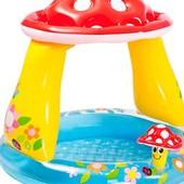 Надувной детский бассейн с навесом Грибок Intex 57114.