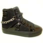 Ботинки женские зимние черные С505