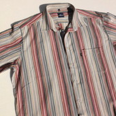 Engbers. Стильная рубашка в объёмную полоску из Германии.