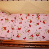 Постельный набор в кроватку 2 цвета бязь Е0708