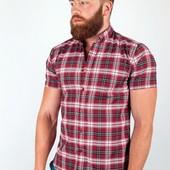 Рубашка клетчатая летняя №36F011 3 цвета