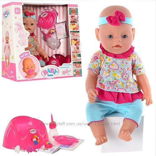 Куклу беби берн  с ресничками и глазки закрываются фото №1