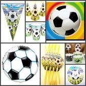 Посуда и декор для Дня Рождения в стиле Футбол