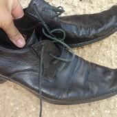 Фірмові брендові шкіряні кожание туфли туфлі Kazar.43 .