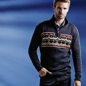 Стильный норвежский узор пуловер свитер Livergy.
