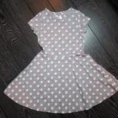 Трикотажное платье для стильной малышки M&S